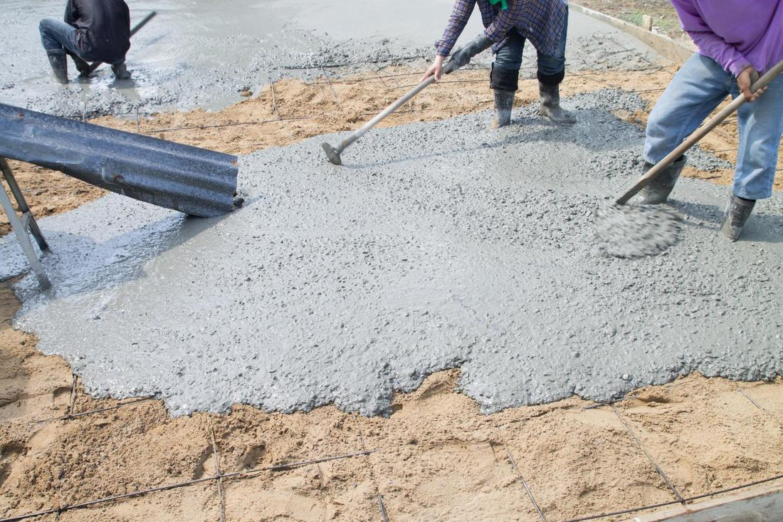 This is a picture of concrete flatwork services.